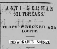 Riots - Newspaper